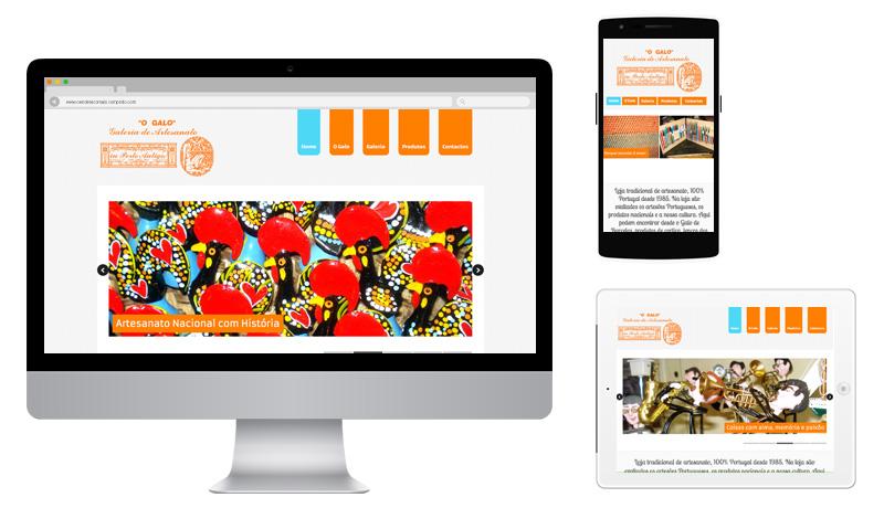 Sites 365 - Ping - Portefólio - Galeria de Arte O Galo