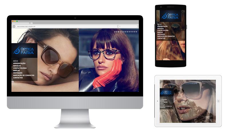 Sites 365 - Ping - Portefólio - Óptica Faria